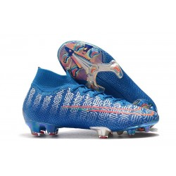 Nike Mercurial Superfly 7 Elite FG Boots Blue Red Silver