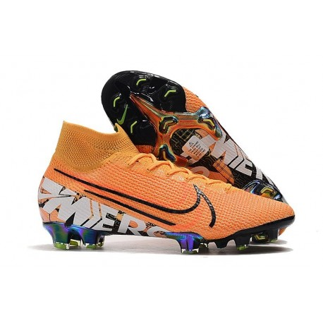 Nike Mercurial Superfly 7 Elite FG Boots Orange White Black