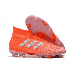adidas Predator 19.1 FG Firm Ground Boots - Orange White