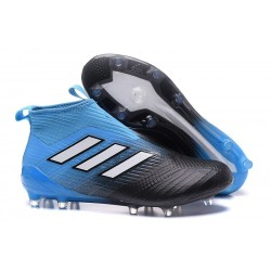 adidas ACE 17+ Purecontrol FG Mens Football Boots - Blue Black White