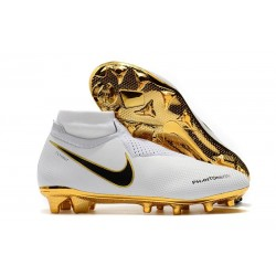 Nike Phantom Vision Elite DF FG Boots White Golden