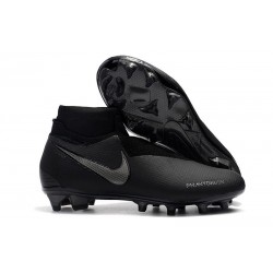 Nike Phantom Vision Elite DF FG Boots in Full Black
