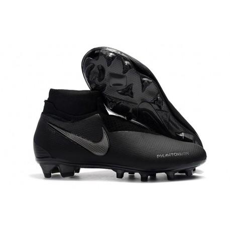 Nike Phantom Vision Elite DF FG Boots in Full Black