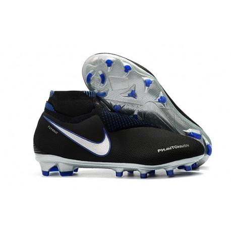 Nike Phantom Vision Elite DF FG Boots Black Silver