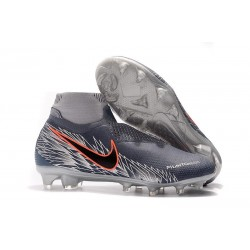 Nike Mens Phantom Vision Elite DF FG Soccer Cleat - Armory Blue Black Crimson