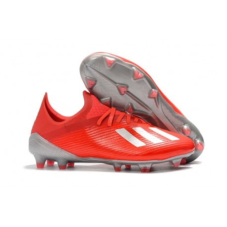 adidas X 19.1 FG Firm Ground Shoes Crimson Silver