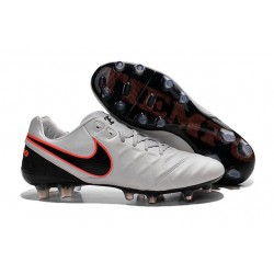 Nike Tiempo Legend VI FG Kangaroo Leather Boots - White Black Orange