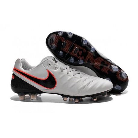 Nike Tiempo Legend VI FG Kangaroo Leather Boots - White Black Orange
