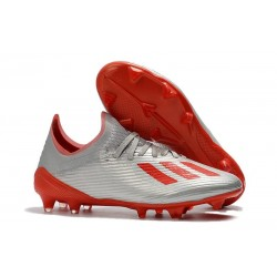 adidas X 19.1 FG Firm Ground Shoes Silver Red