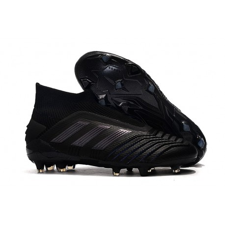 New adidas Predator 19+ FG Soccer Cleats All Black