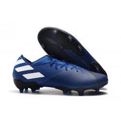 New adidas Nemeziz 19.1 FG Cleat Blue White Core Black