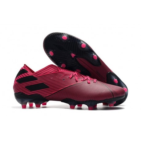 New adidas Nemeziz 19.1 FG Cleat Shock Pink Black