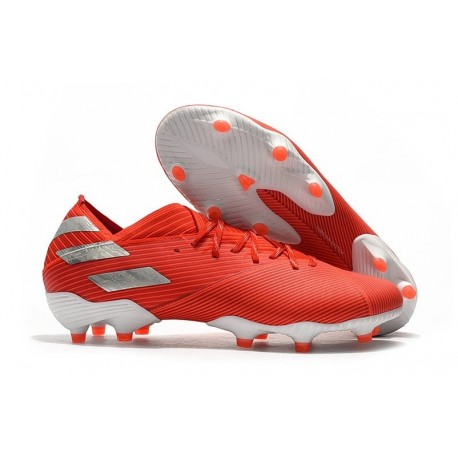 New adidas Nemeziz 19.1 FG Cleat Active Red Silver