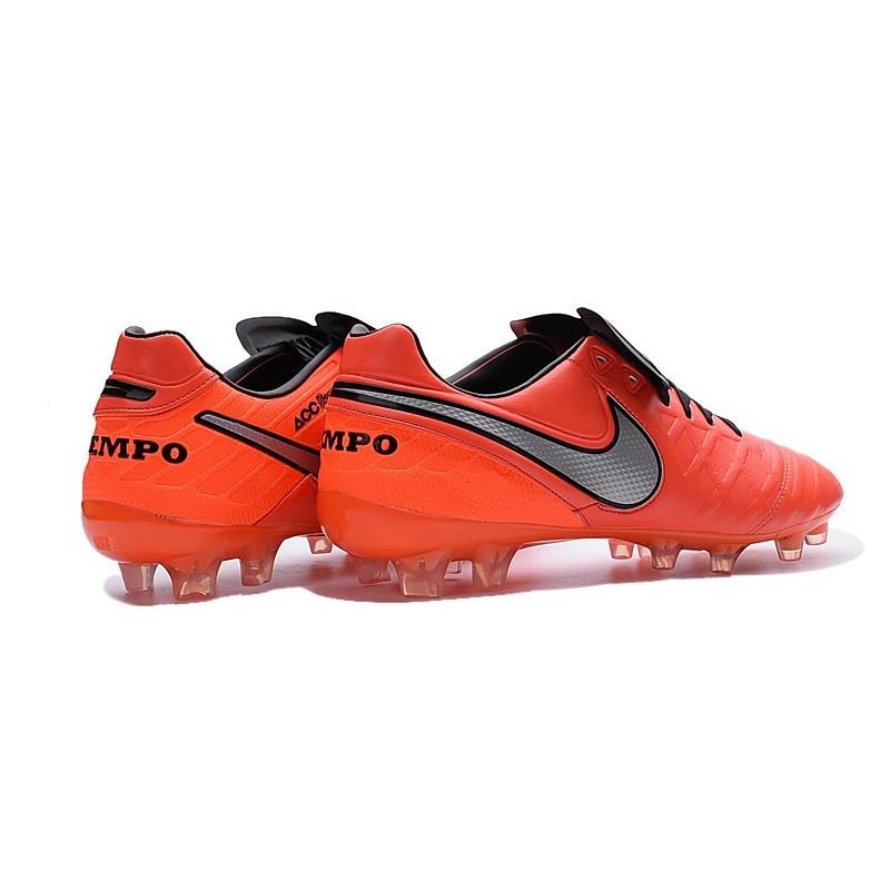 sale retailer 5ea94 28549 Nike Tiempo Legend VI FG Kangaroo Leather Boots Orange Silver