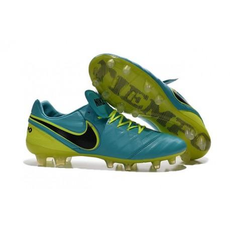 Nike Tiempo Legend VI FG Kangaroo Leather Boots Blue Green Black