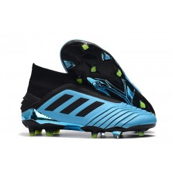 New adidas Predator 19+ FG Soccer Cleats Bright Cyan Black Yellow