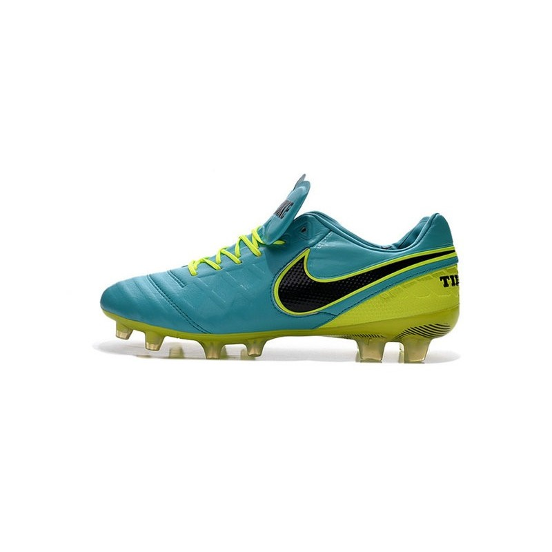 brand new fb6fb caf5e Nike Tiempo Legend VI FG Kangaroo Leather Boots Blue Green Black Maximize.  Previous. Next