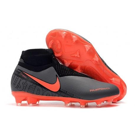News Nike Phantom Vision Elite DF FG Boots Black Bright Crimson