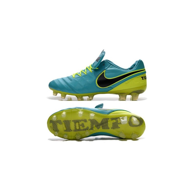 new concept 2f4de 63e39 Nike Tiempo Legend VI FG Kangaroo Leather Boots Blue Green Black