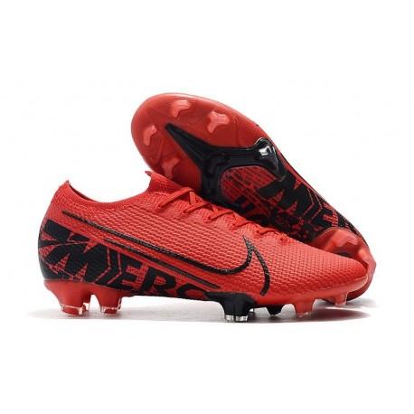 Nike Mercurial Vapor 13 Elite FG Cleat Red Black