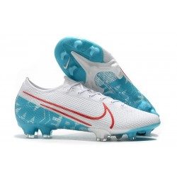 Nike Mercurial Vapor 13 Elite FG Cleat White Blue Red