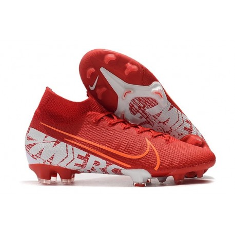 Nike Mercurial Superfly 7 Elite FG Boots Red White