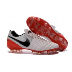 Nike Tiempo Legend VI FG Kangaroo Leather Boots White Red Black