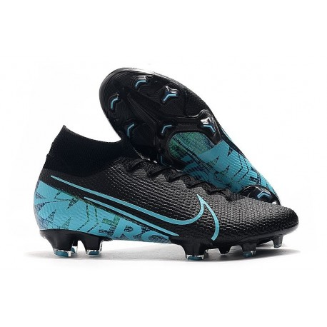 Nike Mercurial Superfly 7 Elite FG Boots Black Blue