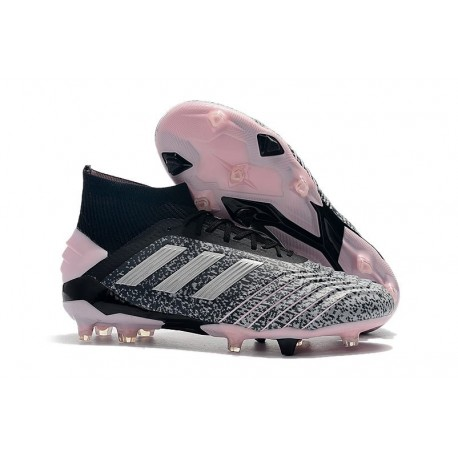 adidas Predator 19+ FG Firm Ground Grey Silver Pink