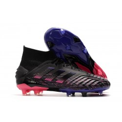 adidas Predator 19+ FG Firm Ground Black Pink Blue