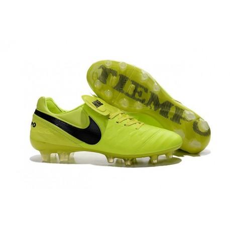 Nike Tiempo Legend VI FG Kangaroo Leather Boots Yellow Black