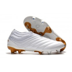 Adidas Copa 19+ FG New Mens Soccer Boots - White Gold