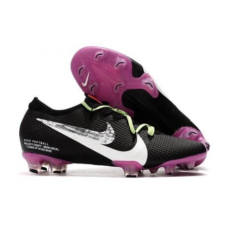 Nike Mens Mercurial Vapor XIII Elite FG Boot Black Purple White Silver
