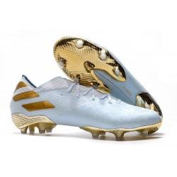 New adidas Nemeziz 19.1 FG Cleat Bold Aqua Gold