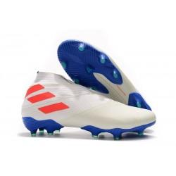Adidas Nemeziz 19+ FG New Boots White Solar Orange