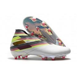 Adidas Nemeziz 19+ FG New Boots White Black Silver
