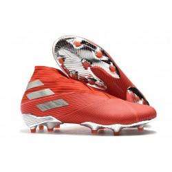 Adidas Nemeziz 19+ FG New Boots Active Red Silver