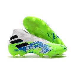 Adidas Nemeziz 19+ FG New Boots White Green Black