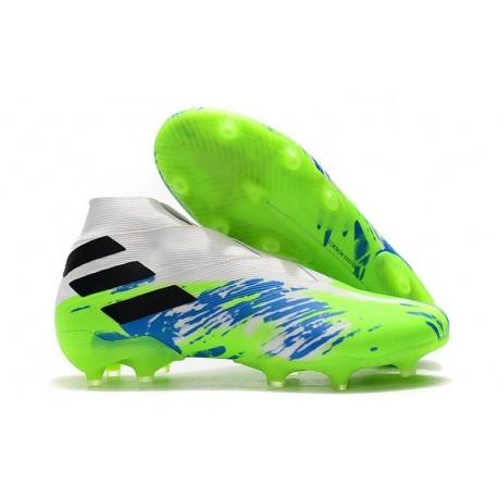 Adidas Nemeziz 19+ FG New Boots White Green Black