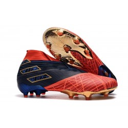 Adidas Nemeziz 19+ FG New Boots Spider-Man Red Black
