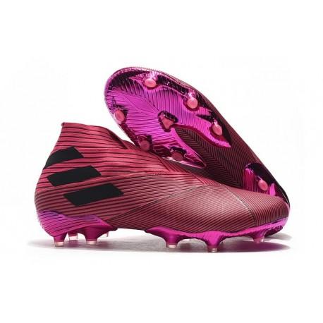 Adidas Nemeziz 19+ FG New Boots Pink Black