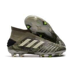 adidas Predator 19+ FG Firm Ground Legacy Green Sand Solar Yellow
