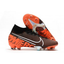Top Nike Mercurial Superfly VII Elite FG Black White Hyper Crimson