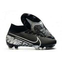 Top Nike Mercurial Superfly VII Elite FG Black Metallic Cool Grey