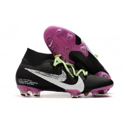 Top Nike Mercurial Superfly VII Elite FG Black Purple White