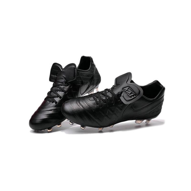 6002e8448 Nike Tiempo Legend VI FG Kangaroo Leather Boots All Black Maximize.  Previous. Next