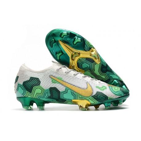 Nike Mbappe Mercurial Vapor XIII Elite FG Boot Grey Gold Green