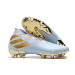Adidas Nemeziz 19+ FG New Boots Bold Aqua Gold