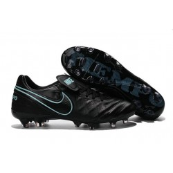 Nike Tiempo Legend 6 FG ACC Soccer Cleats Black Blue