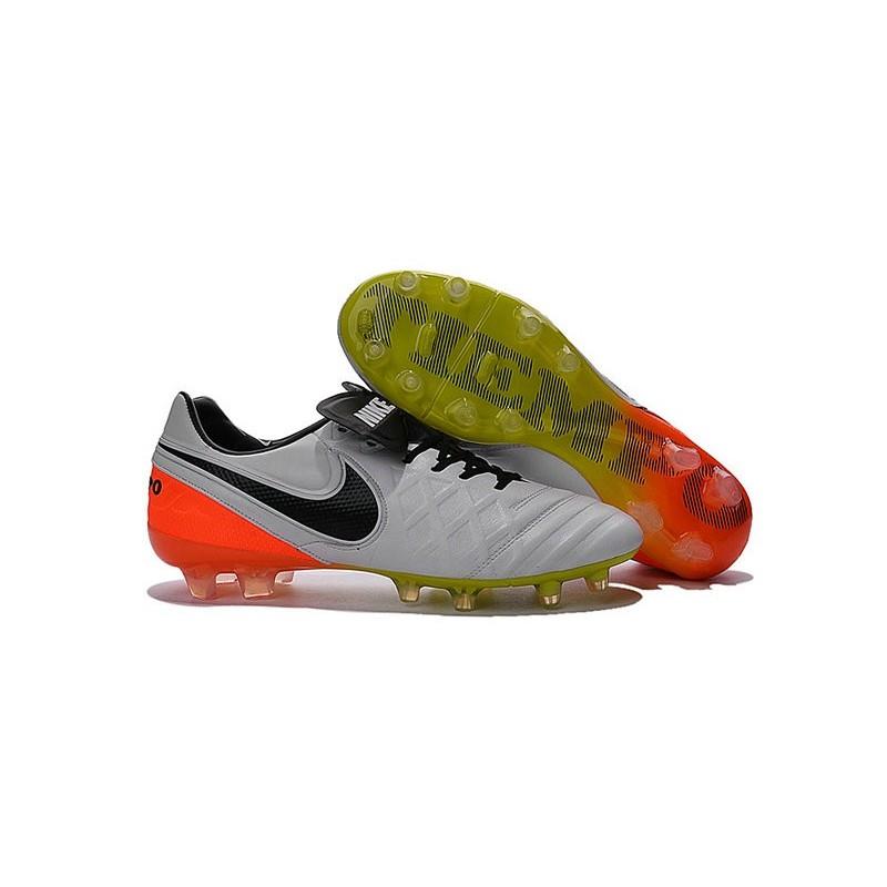 Contando insectos Baya tinta  Nike Tiempo Legend 6 FG ACC Soccer Cleats White Black Orange